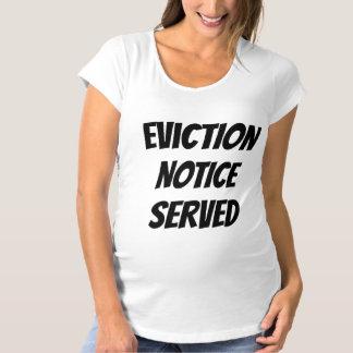 Märkt humoristisk Eviction tjänade som Tee Shirts