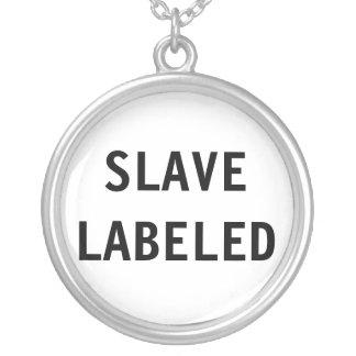Märkt slav- för halsband