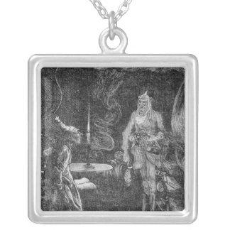 Marleys spöke silverpläterat halsband