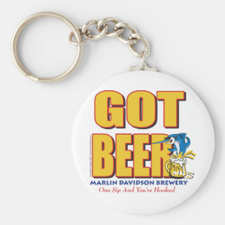 MarlinDavidsons bryggeri - haröl Rund Nyckelring