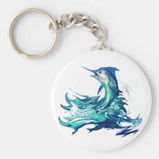 Marlinsportfiske Rund Nyckelring