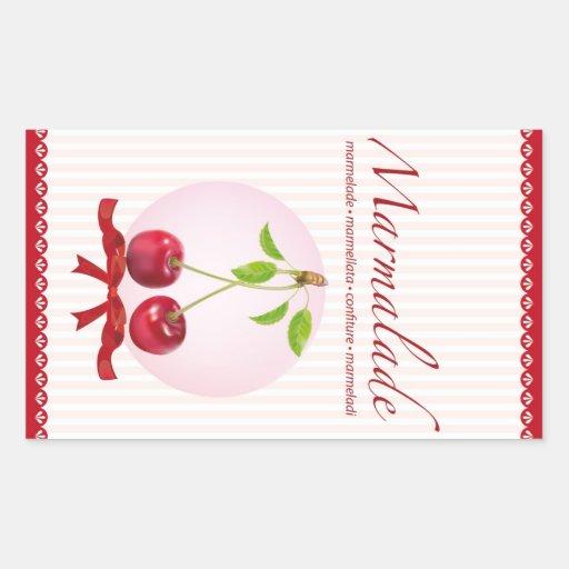 Marmaladelodrätetikett Retangel Klistermärken