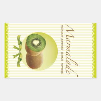Marmaladelodrätetikett Rektangelformat Klistermärke