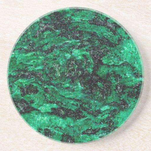 Marmor för abstraktfärggrönt dryck underlägg