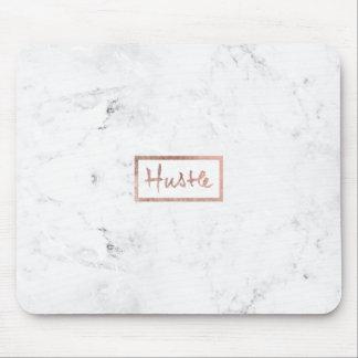 Marmor för vit för modern hustletypografi rosa musmatta