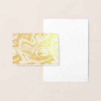 marmor guld, grå färg som är gammal, vit, blek - folierat kort