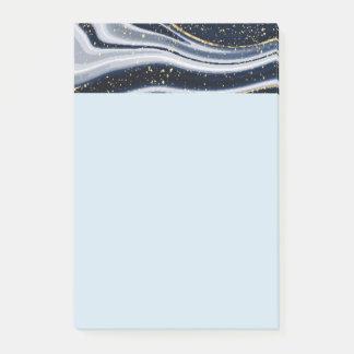 marmor guld, grå färg som är gammal, vit, blek - post-it block