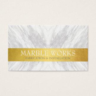 Marmorfabriceringinstallation fungerar det guld- visitkort