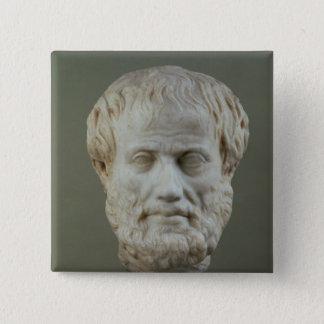 Marmorhuvud av Aristotle Standard Kanpp Fyrkantig 5.1 Cm