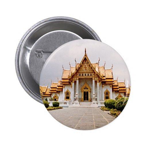 Marmortempelet av guld över den lejona khmeren standard knapp rund 5.7 cm