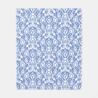 Marockansk Casbah för blått och för vit damast Fleecefilt