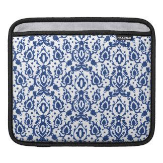 Marockansk Casbah för blått och för vit damast iPad Sleeve