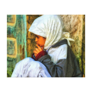 Marockansk flicka canvastryck