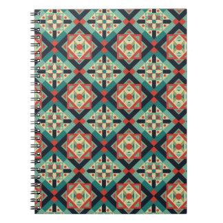 Marockansk geometrisk kultur 1 anteckningsbok med spiral
