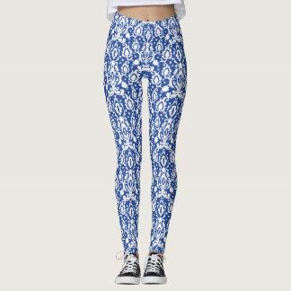 Marockansk modern Casbah för blått och för vit Leggings