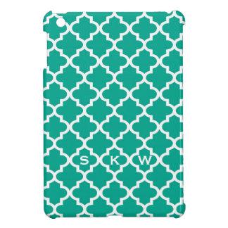 Marockansk smaragdgrönt belägger med tegel monogra iPad mini mobil fodral