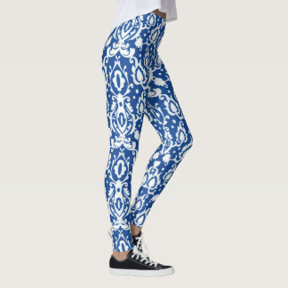 Marockanska eleganta blått och vit Casbah Leggings