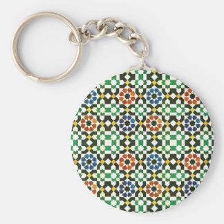 marockanskt färgmönster för 70-tal nyckel ring