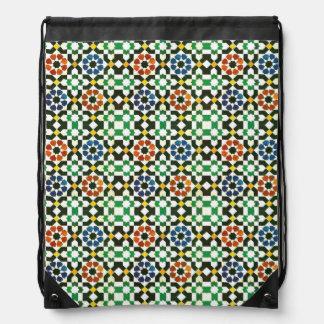 marockanskt färgmönster för 70-tal ryggsäckar