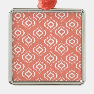 Marockanskt mönster för korall julgransprydnad metall