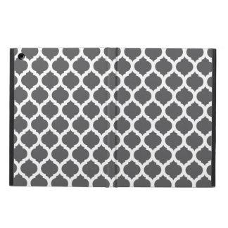 Marockanskt mönster för mörka grå färg iPad air skydd