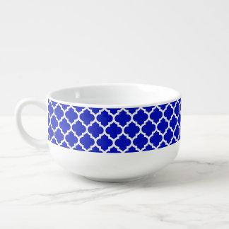 Marockanskt Quatrefoil för kunglig blåttvit Soppmugg
