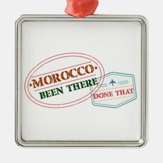 Marocko där gjort det julgransprydnad metall