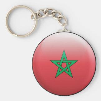 Marocko flagga rund nyckelring