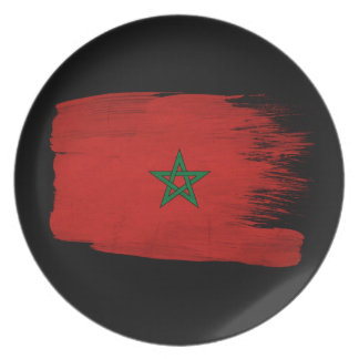 Marocko flagga tallrik