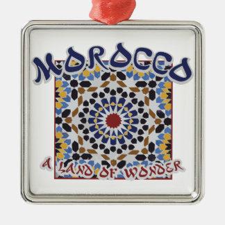 Marocko land av under julgransprydnad metall