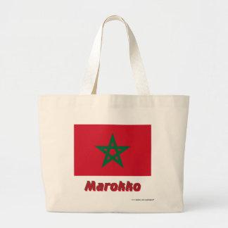 Marokko Flagge mit Namen Tote Bag