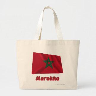 Marokko Fliegende Flagge mit Namen Kassar