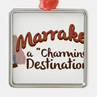 Marrakech charmig destination julgransprydnad metall