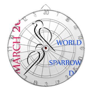 Mars 20 för världssparrowdag piltavla
