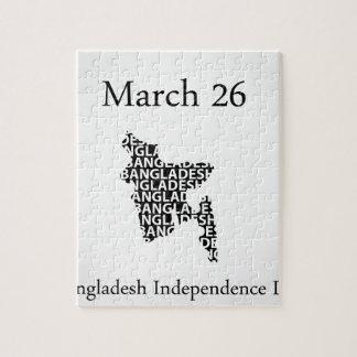 Mars 26 för Bangladesh självständighetdag Pussel