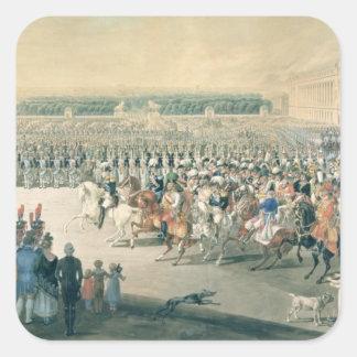 Mars av de förbundna styrkorna in i Paris, 1815 Fyrkantigt Klistermärke