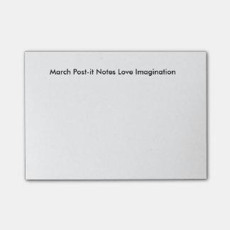 Mars noterar Posta-det kärlekfantasi Post-it Block