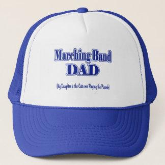 Marschera musikbandDad/piccoloen Truckerkeps