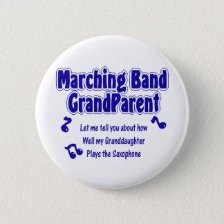 Marschera musikbandGrandparent/saxofonen Standard Knapp Rund 5.7 Cm