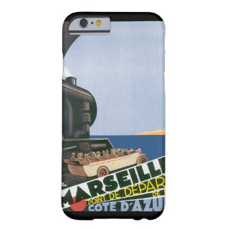 Marseille Cote d'Azur vintage resoraffisch Barely There iPhone 6 Skal