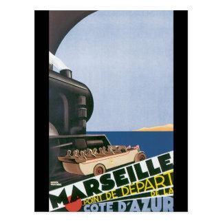 Marseille Cote d'Azur vintage resoraffisch Vykort
