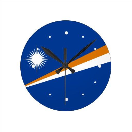 Marshallöarnaflagga Vägg Klocka