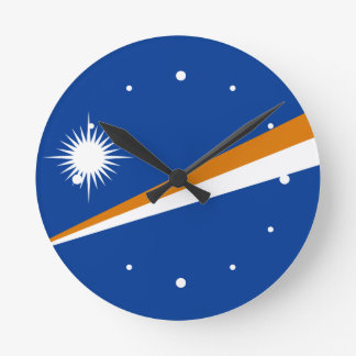 Marshallöarnaflagga Medium Rund Klocka