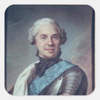 Marskalk Maurice de Saxe Fyrkantigt Klistermärke