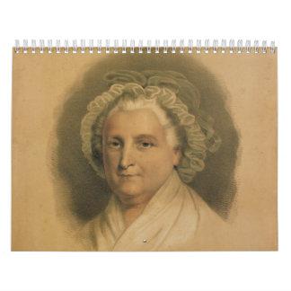 Martha Washington porträtt vid Ives Kalender
