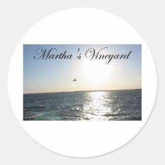 Marthas vingård 2 runda klistermärken