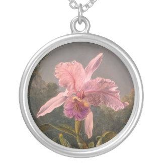 Martin_Johnson_Heade-Orchid Silverpläterat Halsband