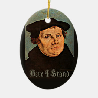 Martin Luther, här som jag står Julgransprydnad Keramik