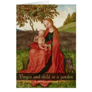 Martin Schongauer CC0940 oskuld och barnträdgård Hälsningskort
