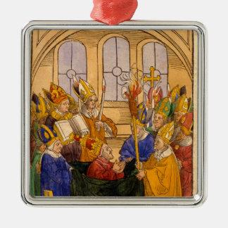 Martin V installeras som Pope Julgransprydnad Metall